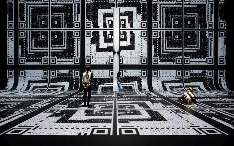 an art installation a museum