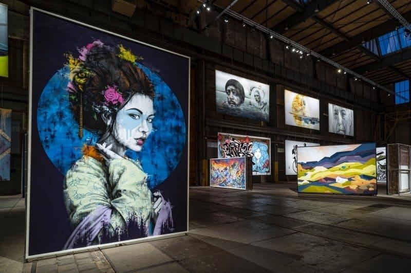 big murals of street art in a museum; STRAAT museum in Amsterdam